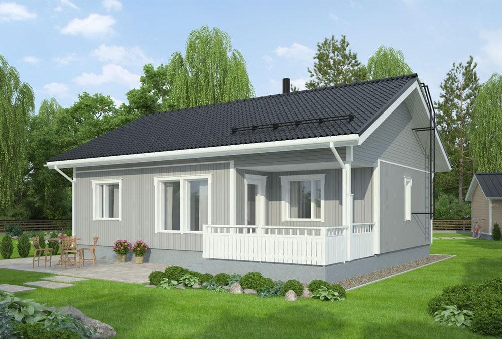 Проект каркасного дома КД-74-13