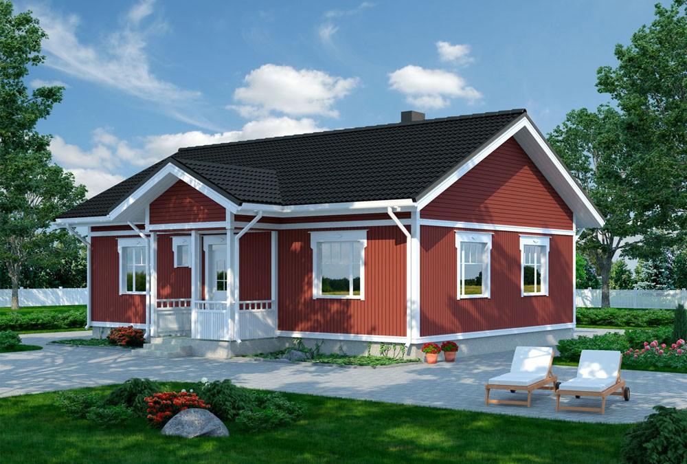 Проект каркасного дома КД-89