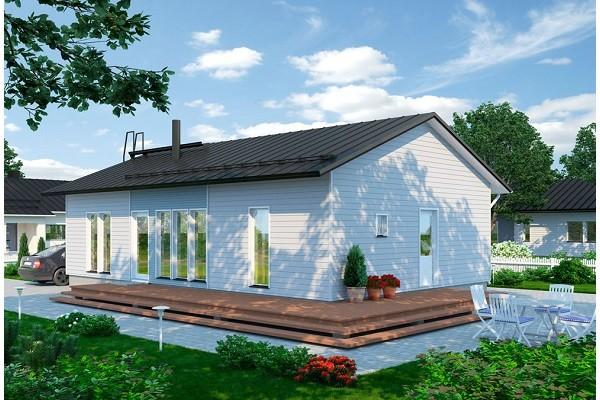 Проект каркасного дома КД-100