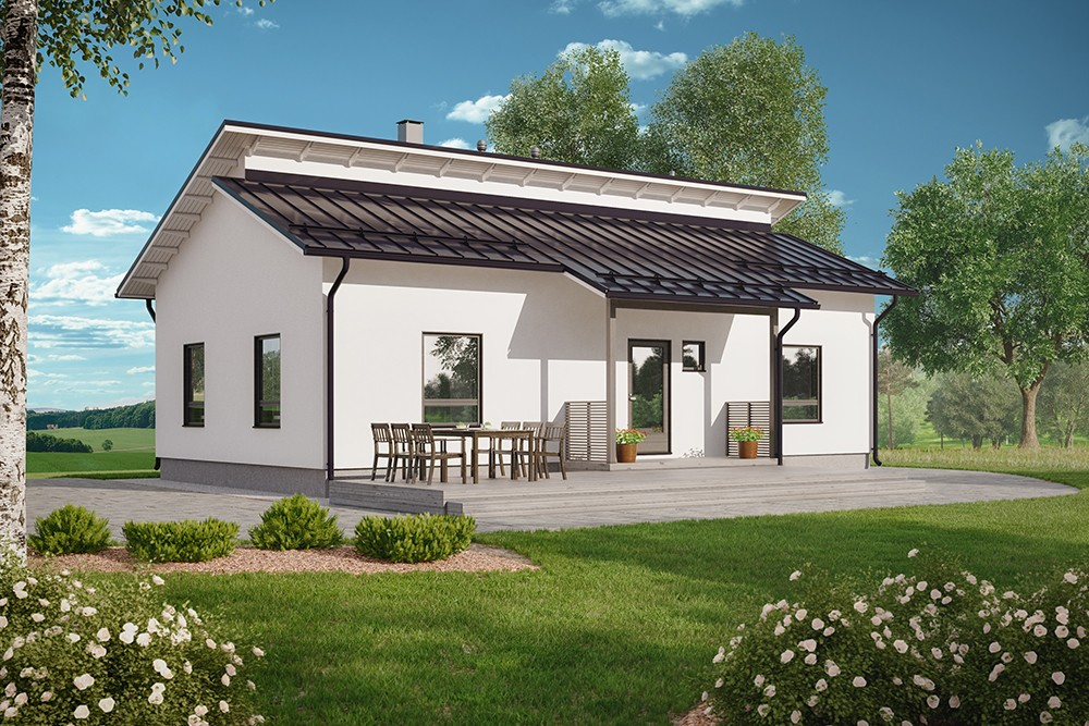 Проект каркасного дома КД-101.5-1-1
